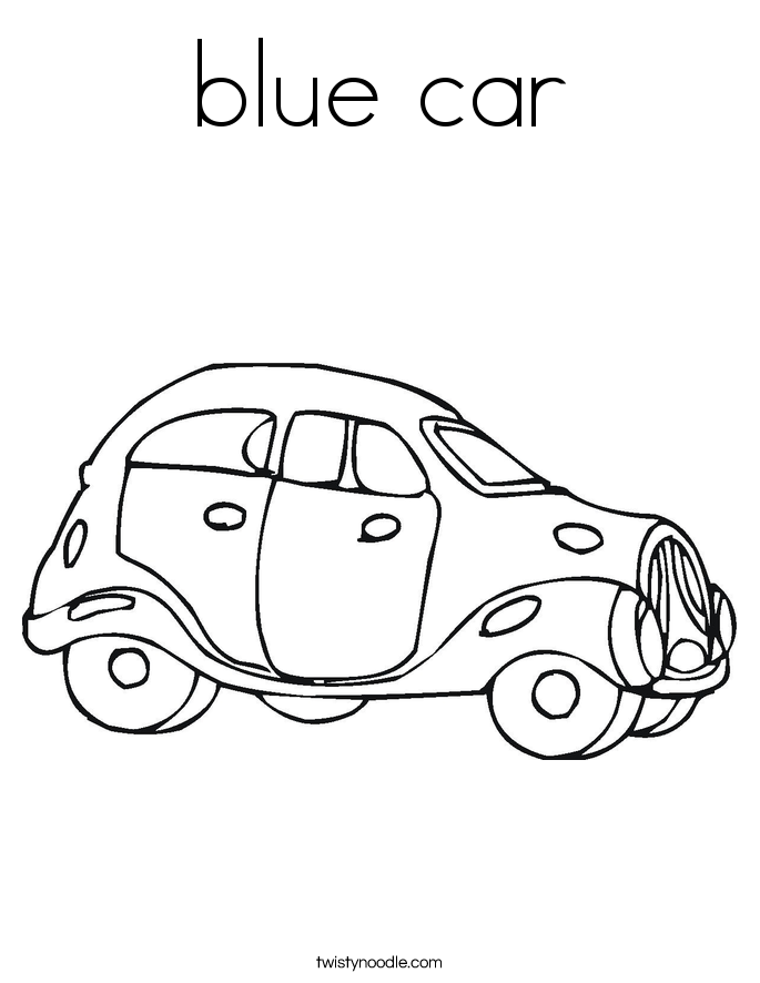 Blue car coloring page twisty noodle for Blue coloring page