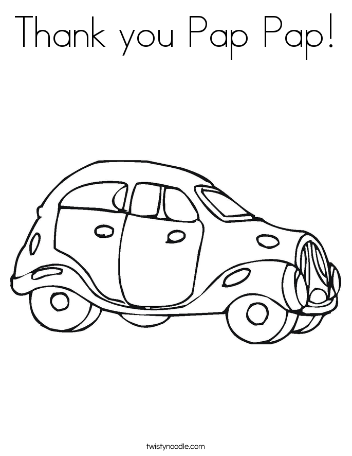 Thank you Pap Pap! Coloring Page