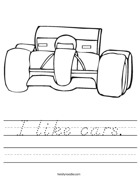 Car with Big Tires Worksheet
