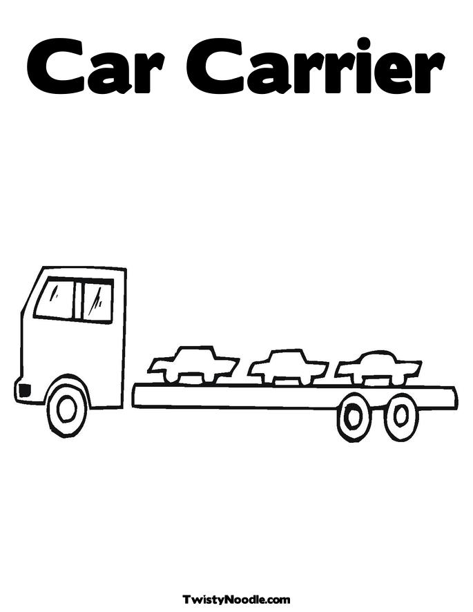 mail truck coloring pages - photo#36