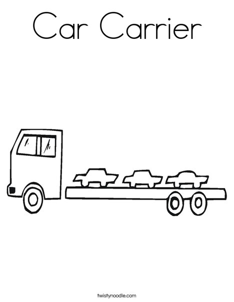 Car Carrier Coloring Page