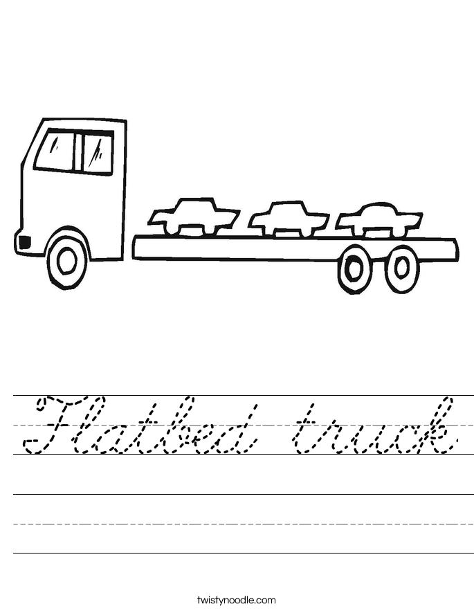 Flatbed truck Worksheet