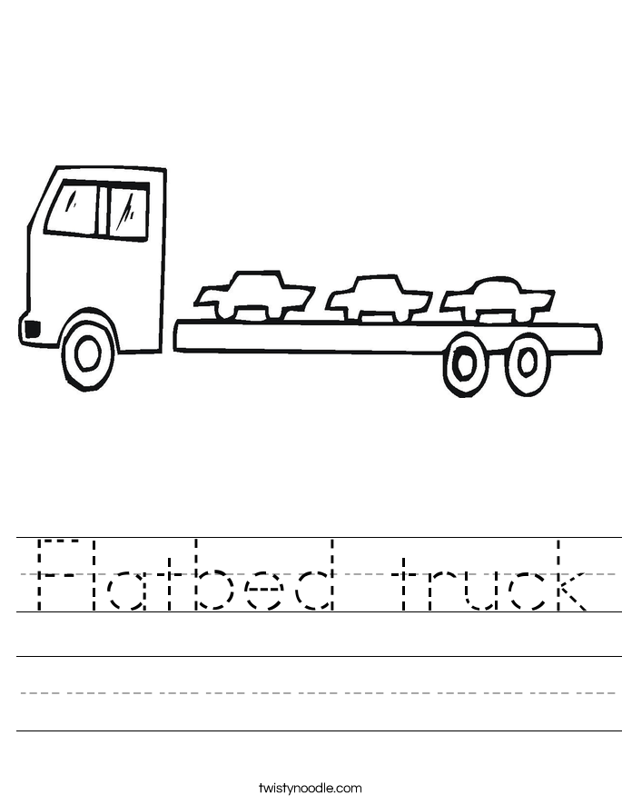 Flatbed truck Worksheet
