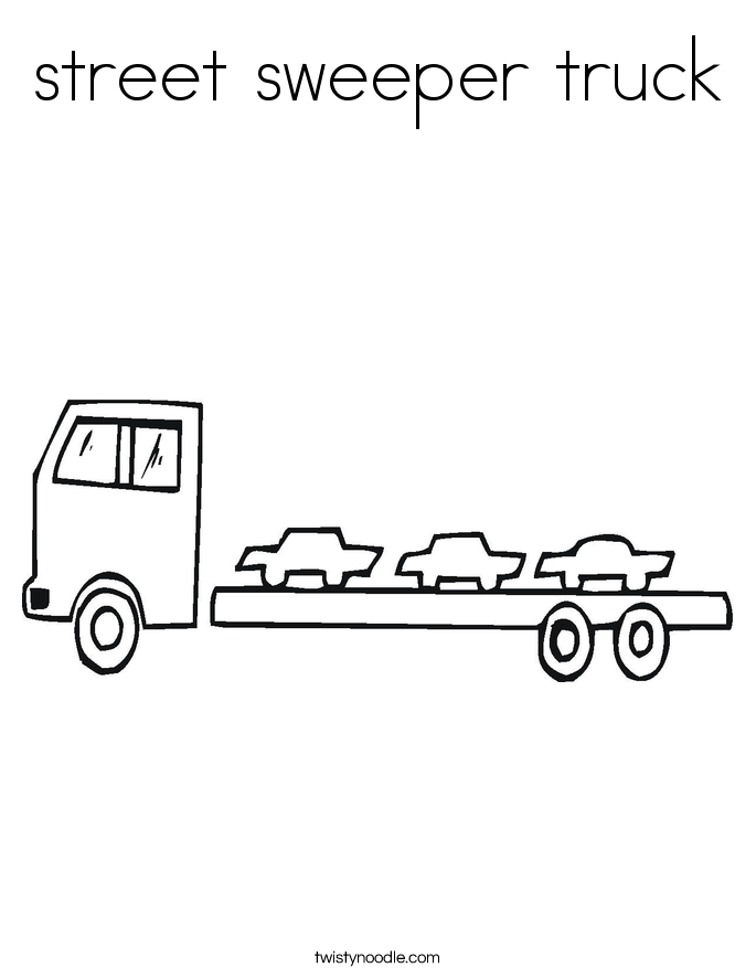 street sweeper truck Coloring Page