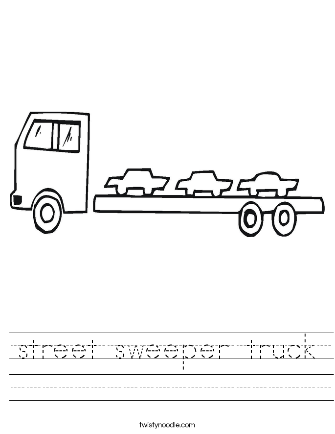 street sweeper truck Worksheet