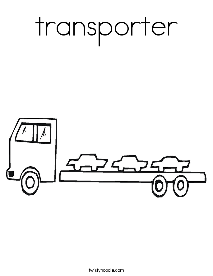 transporter Coloring Page
