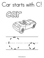Car starts with C Coloring Page