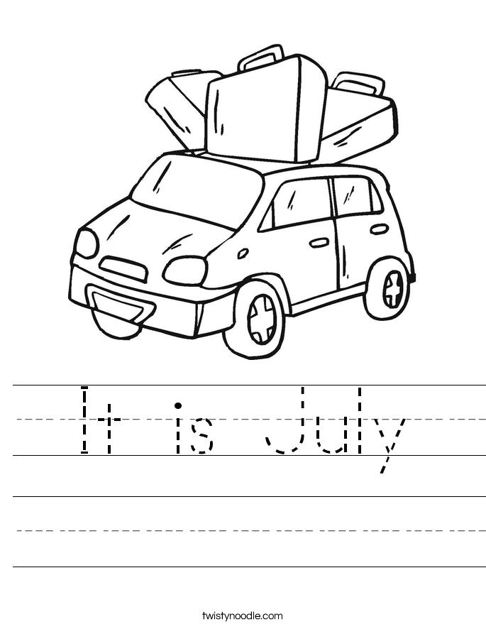 It is July Worksheet