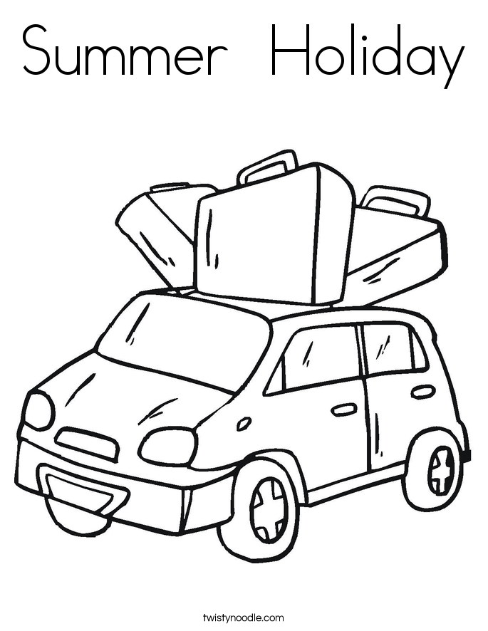 Summer Holiday Coloring Page