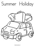 Summer  HolidayColoring Page
