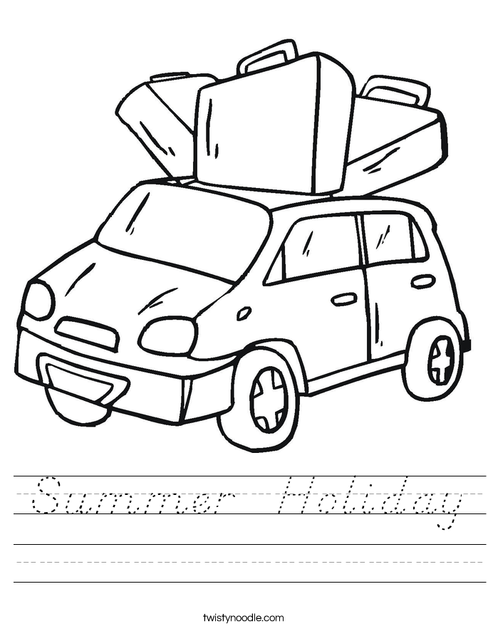 Summer  Holiday Worksheet