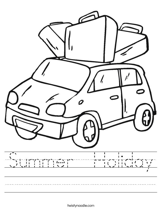 Summer  Holiday Worksheet