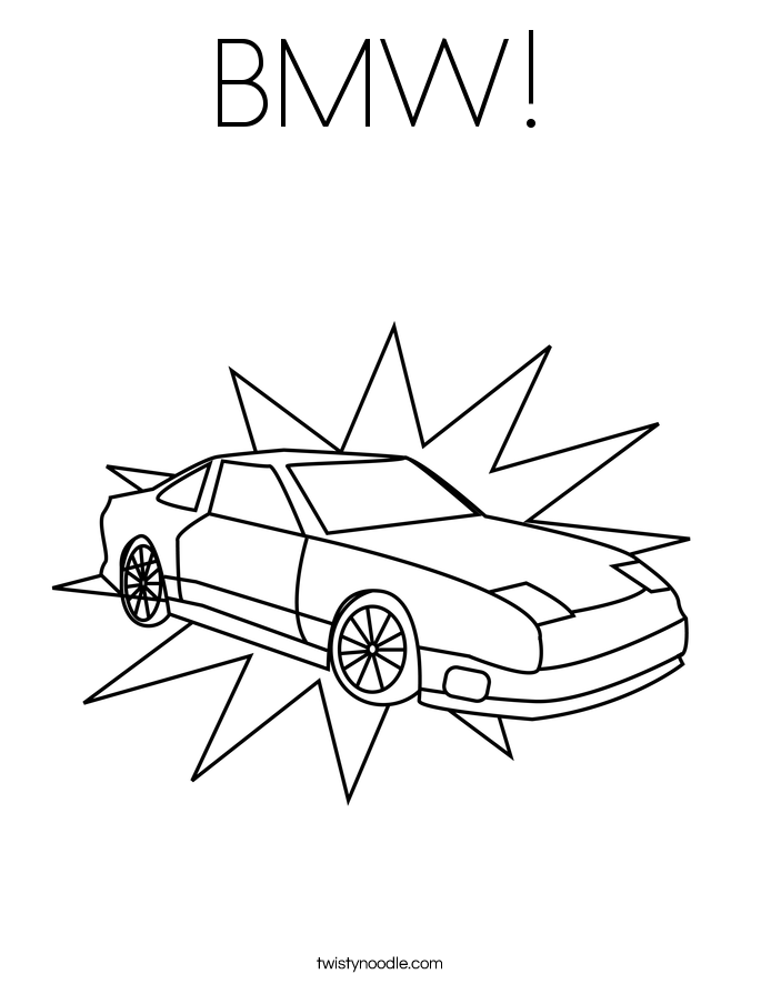 BMW! Coloring Page