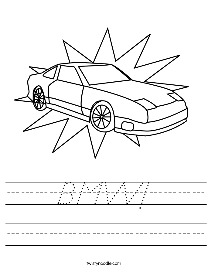 BMW! Worksheet