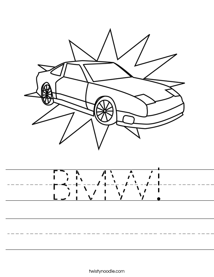 BMW! Worksheet