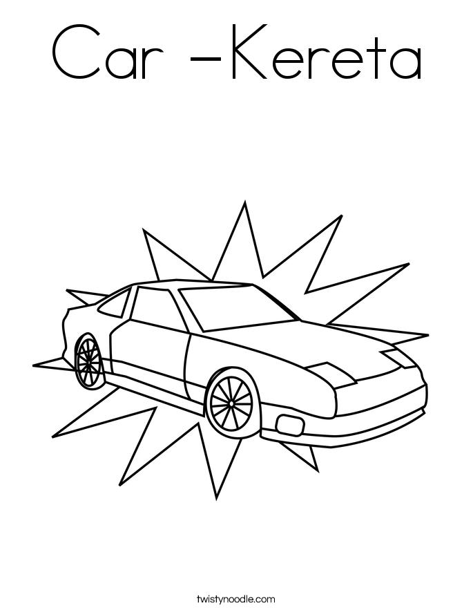 Car -Kereta Coloring Page