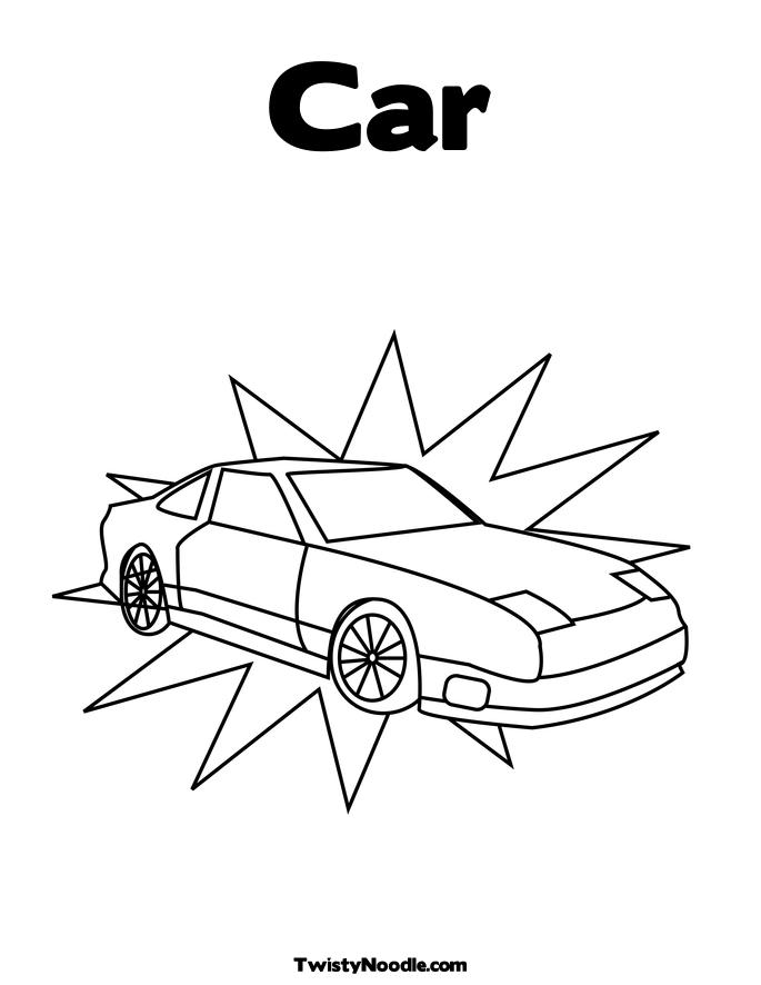 noodle race car sport page colouring pages for kids/classic sport car coloring car