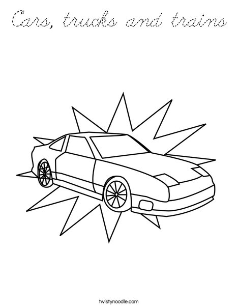 trucks and trains coloring pages - photo#3