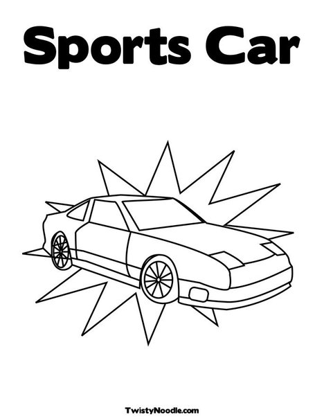coloring pages sports cars. Sports Car Coloring Page