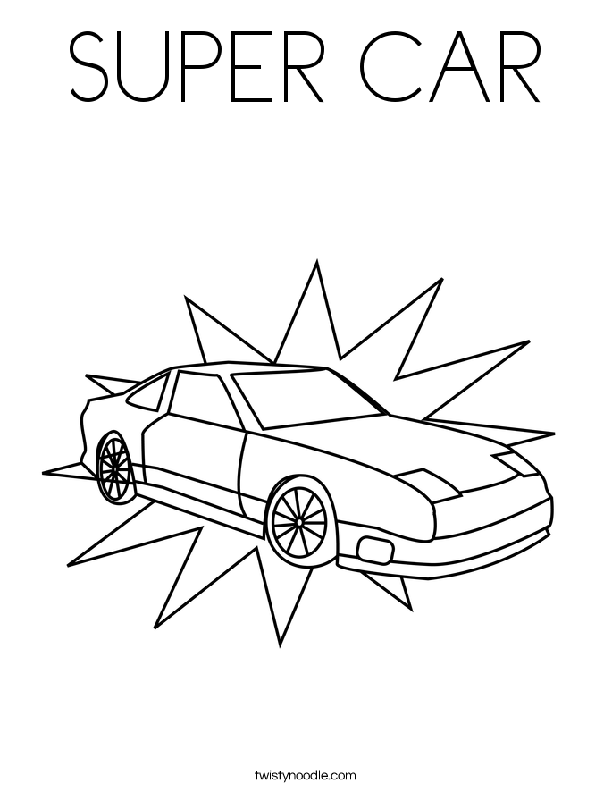 SUPER CAR Coloring Page