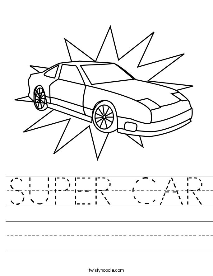 SUPER CAR Worksheet