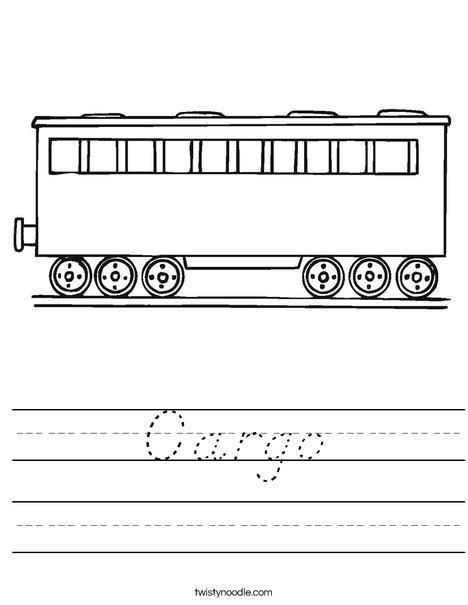 Cargo Worksheet