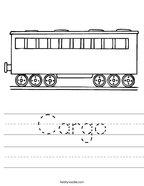 Cargo Handwriting Sheet
