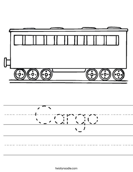 Cargo Worksheet