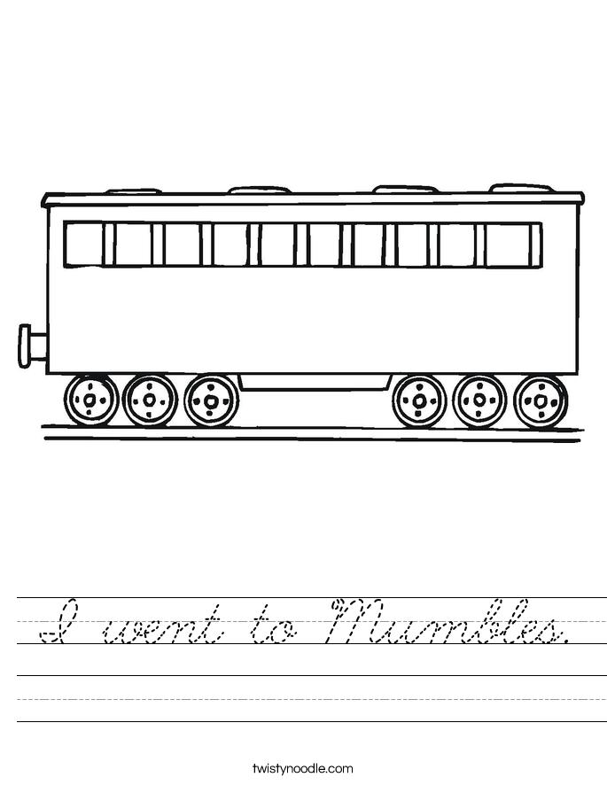 I went to Mumbles. Worksheet