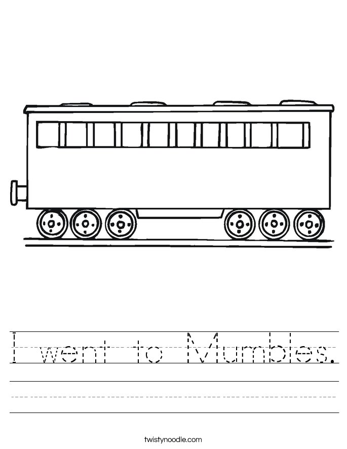 I went to Mumbles. Worksheet