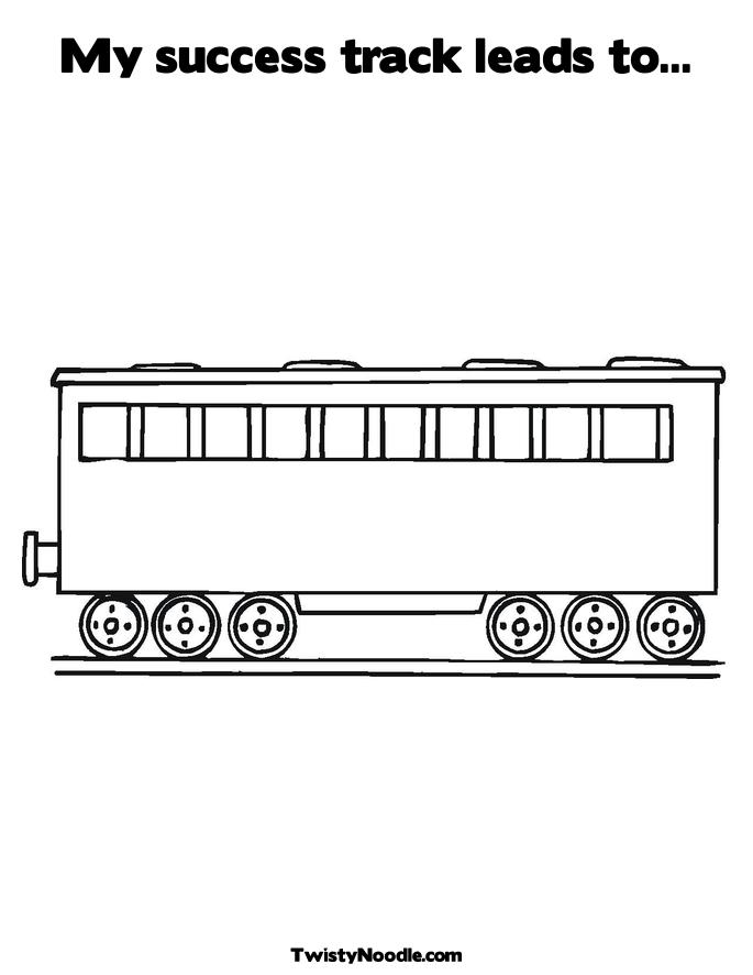 Train Track Coloring Pages