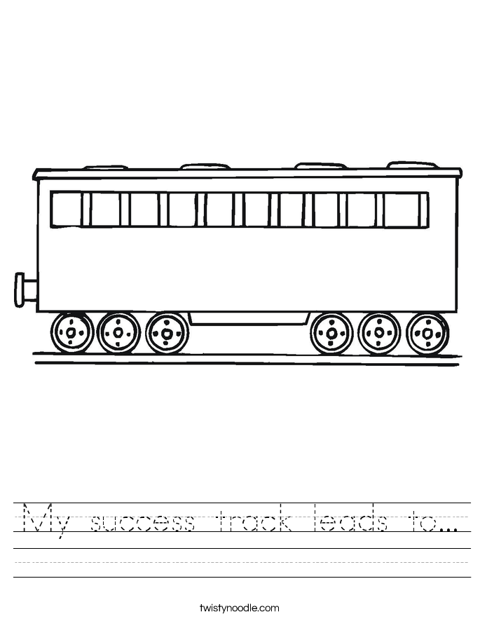 My success track leads to... Worksheet