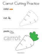 Carrot Cutting Practice Coloring Page