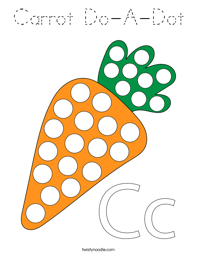 Carrot Do-A-Dot Coloring Page
