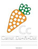 Carrot Do-A-Dot Handwriting Sheet