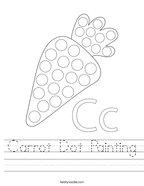 Carrot Dot Painting Handwriting Sheet