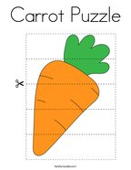 Carrot Puzzle Coloring Page