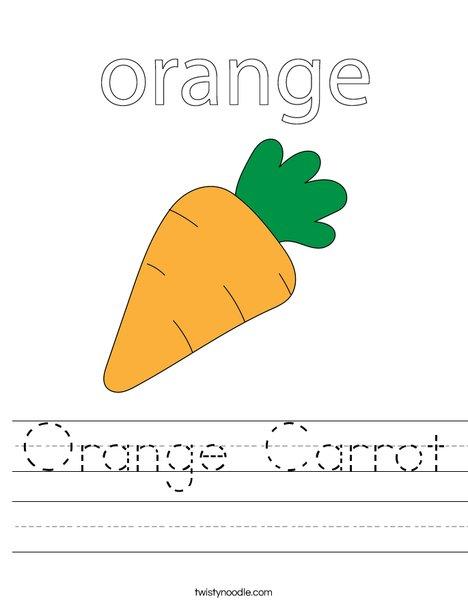 Carrot Worksheet