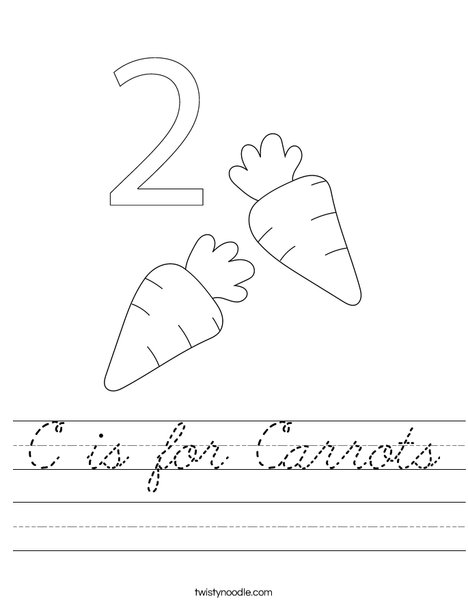 Carrots Worksheet