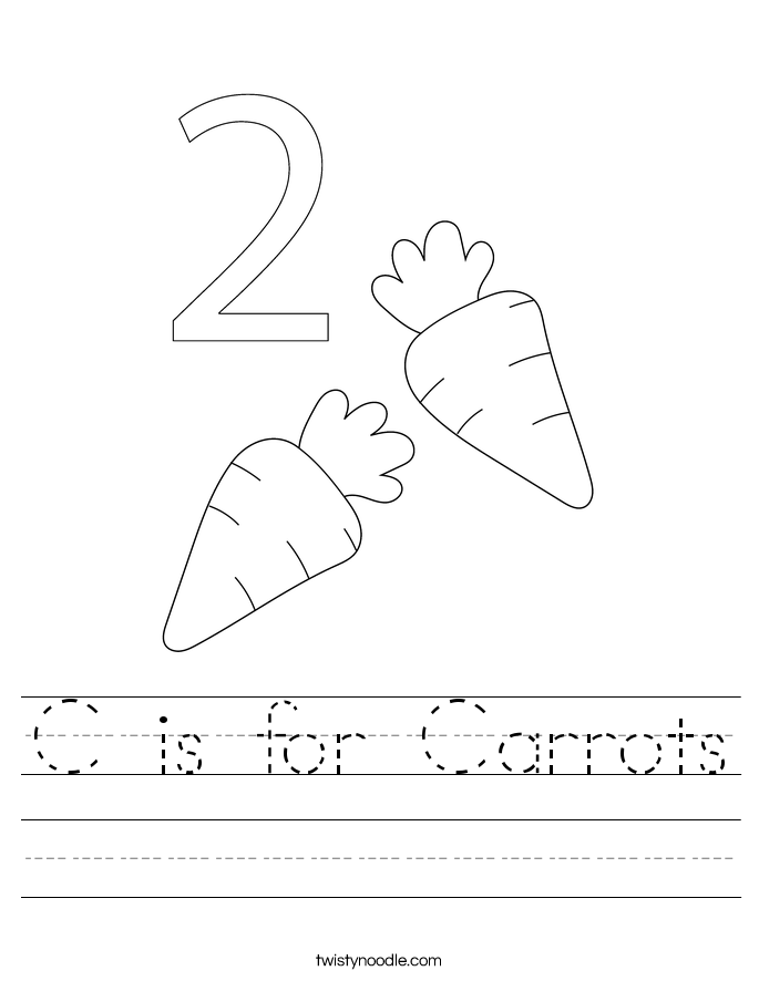 C is for Carrots Worksheet
