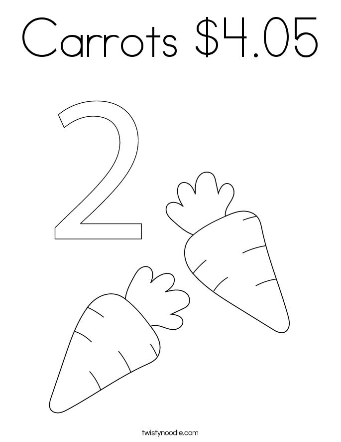 Carrots $4.05 Coloring Page