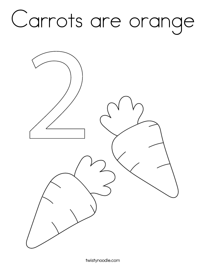 Carrots are orange Coloring Page