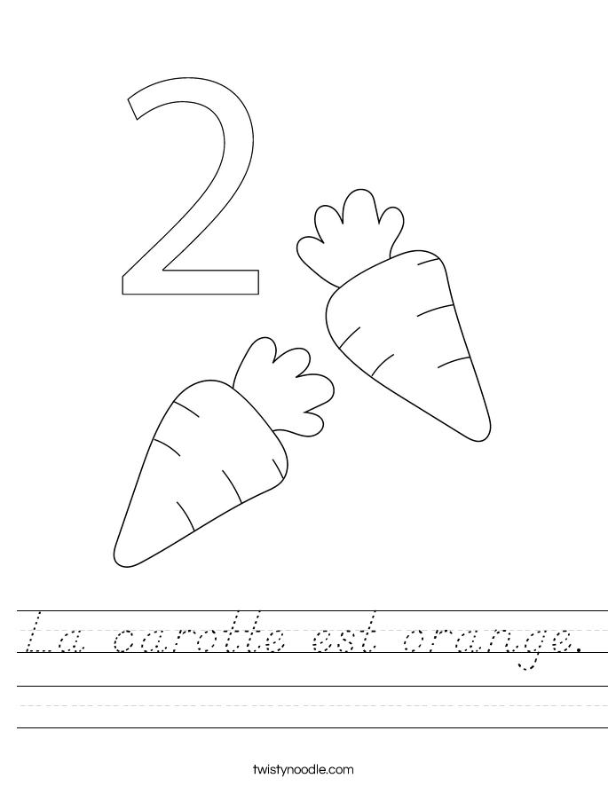 La carotte est orange. Worksheet
