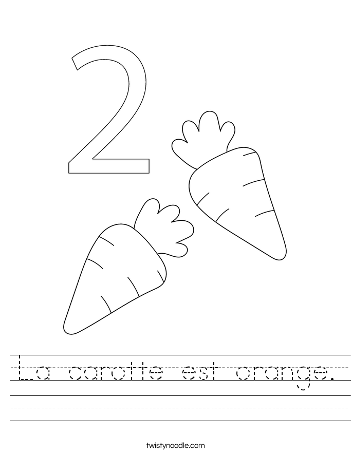 La carotte est orange. Worksheet
