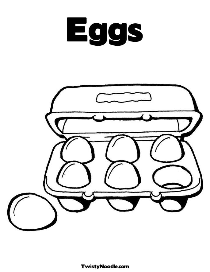 Red egg colouring pages