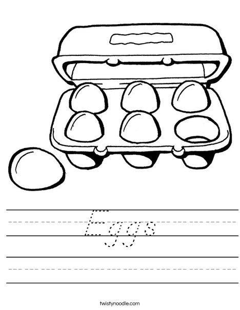 Carton of Six Eggs Worksheet