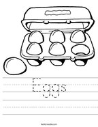 Eggs Handwriting Sheet