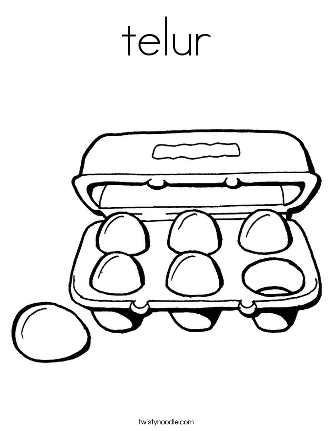 telur Coloring Page
