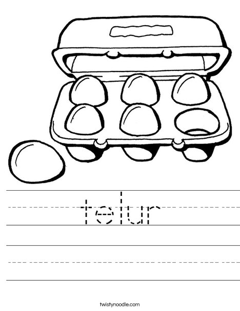 Carton of Six Eggs Worksheet