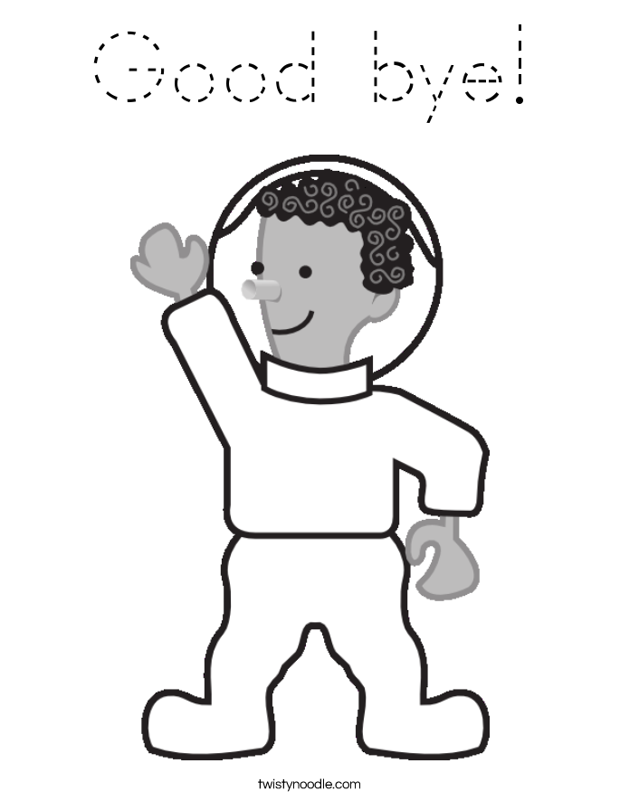 Good bye! Coloring Page